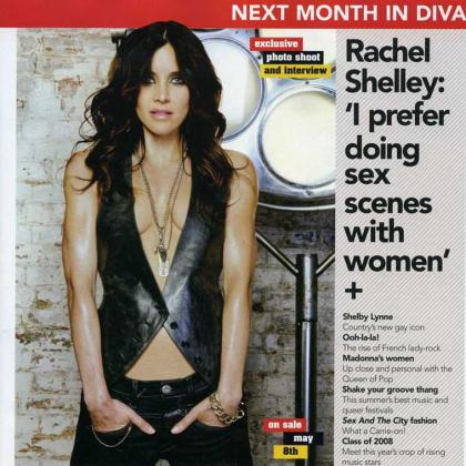 Rachel Shelley en la revista Diva