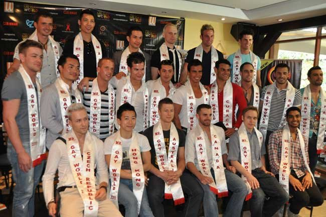 Candidatos a Míster Gay World 2011