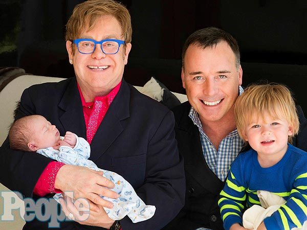 Elton John, David furnish e hijos