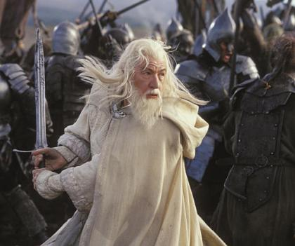 McKellen interpretando a Gandalf