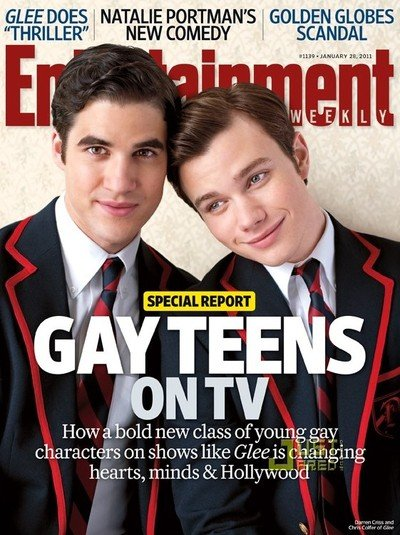 Portada Entertainment Weekly Darren Criss y Chris Colfer