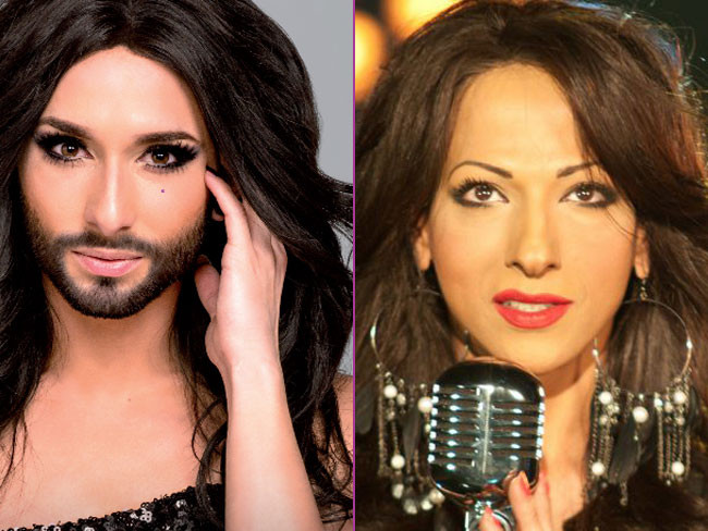 Conchita Wurst y Dana International