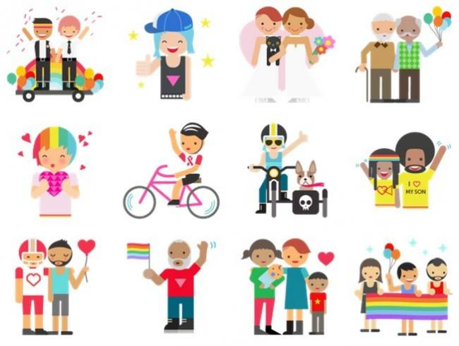 Stickers Orgullo Facebook