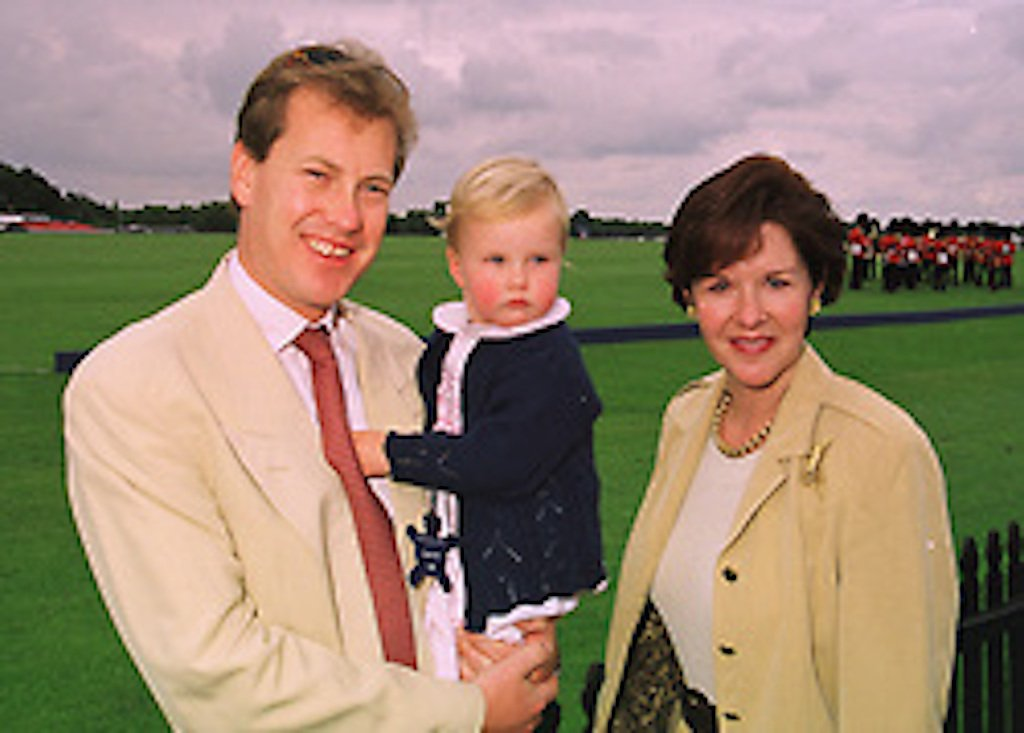 LORD & LADY IVAR MOUNTBATTEN and their daughter the HON.ELLA MOUNTBATTEN, at a polo match in Berkshire on 14th June 1998.MII 31